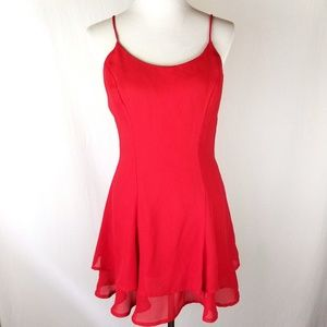 Vintage 90s Rampage Red Flounce Short Party Dress